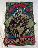 Vintage 90s American Cowboy Garcia Designs 91 Men's T-Shirt L