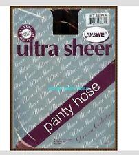 QEEN SIZE WOMAN lady JET BROWN ultra sheer panty hose pantyhose stocking