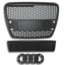 Black honeycomb mesh car grill compatible with Audi A6 2005-2008 C6 4F S6 RS6