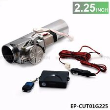 "2.25"" I Type Electric Exhaust Catback Downpipe E-Cutout Valve System Remote Kit"