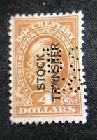 us revenue stamps stock transfer Scott RD15 Lot 3.2