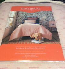 Twin/ Twin XL Opalhouse Diamond Dobby Pink Comforter & Sham Set NIB