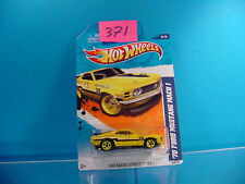#371 HOT WHEELS MAIN STREET '11 1970 FORD MUSTANG MACH 1 #169 YELLOW NEW ON CARD