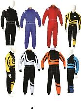 Pm Sports Adult Karting Go Kart Race Rally Suit Poly Cotton One Piece Overall