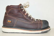 """Timberland Pro Mens Gridworks 6"""" Alloy Safety Toe Work Boots Sz 11.5 M Brown"""