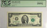 1938-J 2003A $2 FEDERAL RESERVE NOTE PCGS 69PPQ SUPERB GEM NEW SERIES BILL 69