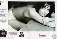 Publicité advertising 1996 (2 pages) Appareil photo Canon Syst Eos JF Jonvelle
