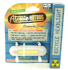 Clean Motion Atomic Hotdog Bike LED Safety Front Light USB Rechargeable White
