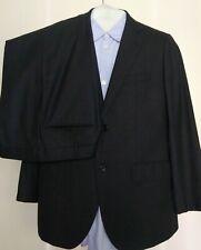 J. PRESS Striped Dark Gray  Wool Venter Vent Jacket Pants SUIT Mens 44 R x 36W