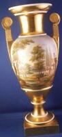 Antique 19thC Porcelain de Paris Vieux Scenic Scene Urn / Vase Porzellan Dagoty