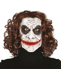 Jester Joker Mask Evil Comic Book Villain Halloween Horror Fancy Dress Costume