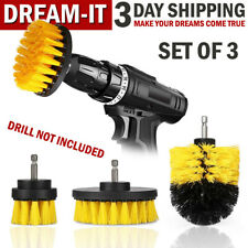 Power Scrubber Drill Brushes Set Car Wash Cleaner Spin Tub Shower Wall Brush Kit