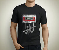 Roll and Replay Music Cassette Audio Vintage Men's Black T-Shirt Size S to 5XL