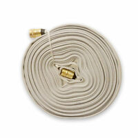 Multipurpose Fire Hose with Garden Thread, WHITE, 75Ft., 250 PSI