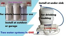 Hybrid In/Outdoor Whole House /Reverse Osmosis System RO Water Filter Tank 50GPD