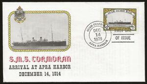USA Local Guam Guard Mail SMS CORMORAN Ship 1st Day Cover DEC.14.1979 cancel VF