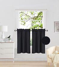 "1 Pair Rod Pocket Faux Silk Window Curtain Blackout Light Blocker 30""x36"" RS5"
