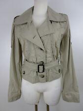 Marc Cain Sports Damen Jacke Übergangsjacke N3 / 38 Beige Baumwolle Tailliert