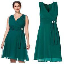 Sheego @ Kaleidoscope Plus Size 24 Green Sleeveless Evening DRESS Occasion £110