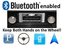 Bluetooth Enabled 68-76 Chevy Nova 300 watt AM FM Stereo Radio iPod, USB inputs