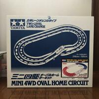 Tamiya Mini 4WD Oval Home Circuit with original box Japan Used