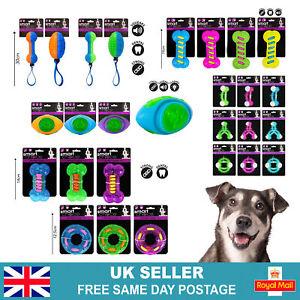 Dog Toy Puppy Dental Soft Rubber Teething Play Pet Train Chew Ring Healthy Gum