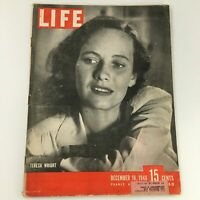 VTG Life Magazine December 16 1946 American Actress Teresa Wright Cover Feature