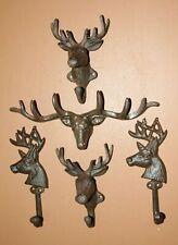 Deer Hunter Bath Towel Hooks / Cast Iron / Taylors Forest - 5 items