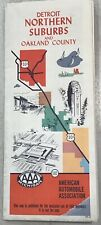 """Vintage Antique 1965 AAA Detroit Michigan Northern Suburbs Oakland County 34""""x25"""