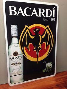 """Bacardi Metal Sign 12"""" x 18"""""""