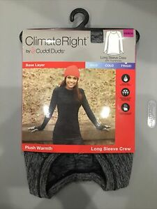 Women's Cuddl Duds Climate Right Long Sleeve  Plush Warmth Base Layer  Top - XS