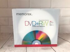 Memorex DVD + RW 4.7GB 4 x 120min Rewritable Media x10 New Sealed