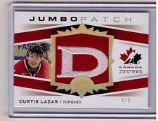 CURTIS LAZAR 14/15 Upper Deck UD Canada Juniors Jumbo Patch GOLD Rookie #5/6 SP