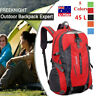 45L Large Waterproof Hiking Camping Bag Travel Backpack Outdoor Luggage Rucksack