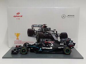 Model Car Scale 1:18 Formula 1 Mercedes AMG Hamilton 2020 Spark Modeling