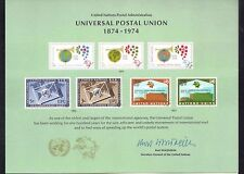 UN United Nations Souvenir Cards Scott #54 M NH 1999 Universal Postal Union