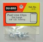 """DU-BRO FUEL LINE CLIPS FOR LARGE 1/8"""" I.D. TUBING (PACKAGE OF 4 )( CAT. # 678 )"""