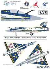 "Syhart Decals 1/48 French MIRAGE 2000C ""Dissolution EC2/12 PIcardie"" 2009"
