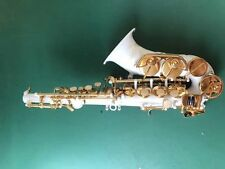 Excellent Bb key Curved soprano Saxophone Perfect sound Free Neck +case