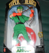"""THE GREEN ARROW ACTION FIGURE DC SUPER HEROES 9"""" SILVER AGE COLLECTION HASBRO"""