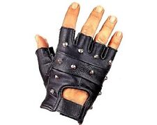 Gants mitaines cuir clous bikers moto custom Leather gloves motorcycles