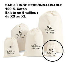 SAC à LINGE a personnaliser LESSIVE vetements enfants Taille XS Petit modèle