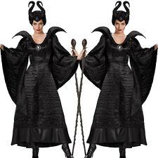Adulto Maléfica de lujo Mal Reina Cosplay Traje Disfraz Disfraz Mujer