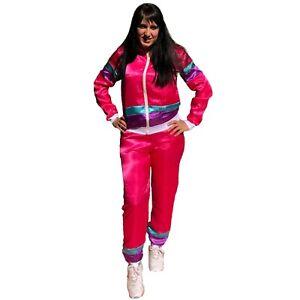 LADIES WOMENS 1980S 80S SHELL SUIT TRACKSUIT SET SCOUSER FANCY DRESS COSTUME ADD