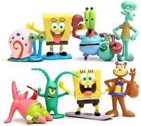 """SpongeBob Character SquarePants 2"""" Figure Set of 8"""