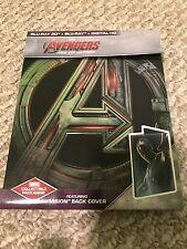 Avengers: Age of Ultron (Blu-Ray, 3D Blu-Ray) VISION STEELBOOK RARE, No Digital