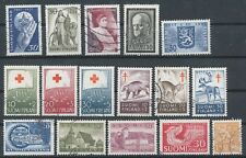 Finland 1957 Full Year Set of Used Stamps - Red Cross - Anti Tuberculosis