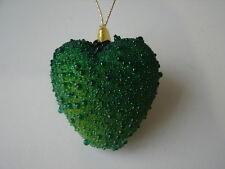 36 x Hanging Sugar Heart 60 mm grün Christbaumschmuck Weihnachtsdekoration OVP!
