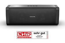 DOCKIN® D FINE+ Hi-Fi Bluetooth Lautsprecher 50 Watt aptX, starker Akku (9.000 m