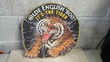 Rare Vtg 1980s Beer Poster Board Old English 800 Malt Liquor It's The Tiger